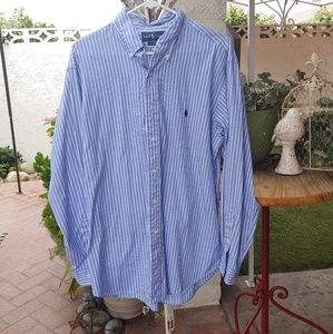 POLO BY RALPH LAUREN DRESS SHIRT, 17.5 CLASSIC FIT